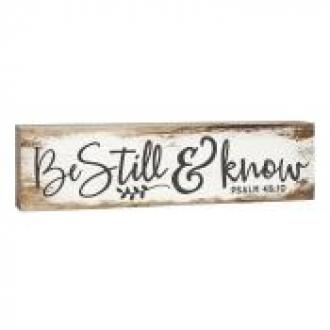 RDM 0108 Dekor-Be still & Know (15 x 4 cm)